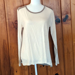 Whisper Cotton Colorblock Tee Madewell Large NWT